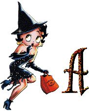Alfabeto de Betty Boop Brujita.
