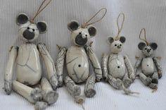 Sur commande: Petit ours en céramique Raku