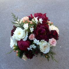 Image result for merlot and blush wedding