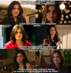 New Pretty Little Liars, Pretty Little Liers, Pll Frases, Pll Memes, Little Memes, Aria Montgomery, High School Musical, Series Movies, Romantic Movie Quotes