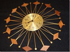 Vintage Mid Century Modern Seth Thomas Wall Clock