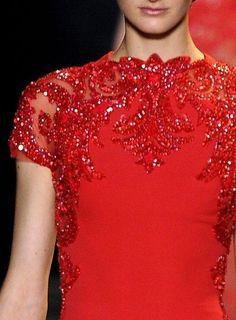 ZsaZsa Bellagio - sparkling red details!
