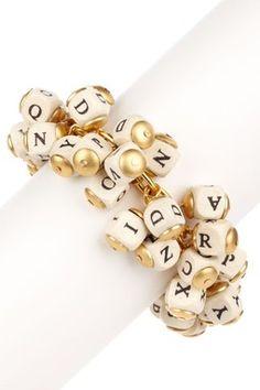 alphabet bracelet.