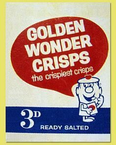 Golden Wonder Crisps I'm sure at some point before this they had a little blue twisted paper with salt in them was wrapped up like a toffee.am I right or am I thinking about other crisp's? 1970s Childhood, My Childhood Memories, Great Memories, School Memories, Golden Wonder Crisps, Vintage Advertisements, Vintage Ads, Retro Advertising, Just In Case