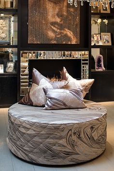 The Sanderson Ottoman by Hill House Interiors