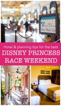 Plan to stay at the perfect hotel for the runDisney Princess marathon weekend. Great tips for making the Disney vacation smooth and fun as possible. Disney Races, Run Disney, Disney Family, Disney Fun, Disney Magic, Best Family Vacation Spots, Family Travel, Disney Hotels, Disney Vacations