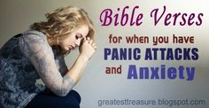 Helpful Bible Verses for Panic Attacks and Anxiety: This is a list of helpful bible verses for when you are in need of biblical counseling for your anxiety and panic attacks.