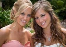 Half up/half down hair style for wedding