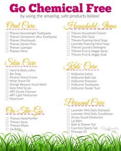 Learn how to go Chemical Free with Young Living and stay within your budget!!