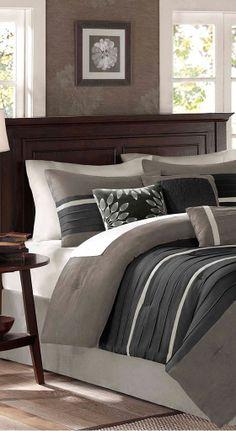 Madison Park Palmer Comforter Set in Black