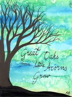 From Little Acorns - Original Watercolour painting by Kirsten Bailey.