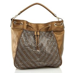 "Big Buddha ""Daria"" Drawstring Bronze Bucket Hobo Handbag"