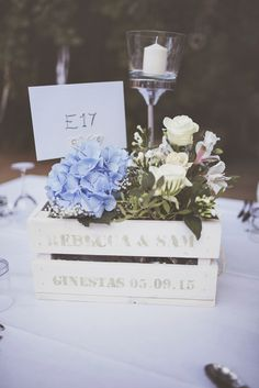 Rustic Wooden Crate Wedding Flowers   Chateau du Puits es Pratx   Destination French Wedding    On Love and Photography   http://www.rockmywedding.co.uk/rebecca-sam/
