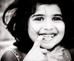 she has a beautiful smile.