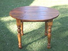 The Dubliner - Round Farm or Pub Style handmade table made with reclaimed barn wood.