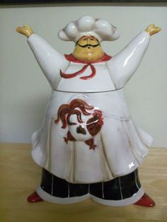 Chef Cookie Jar Brand New in Box Made by Jennifer Garant   eBay