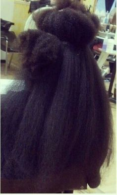 """4c hair stretched """"this is what you call shrinkage"""""""
