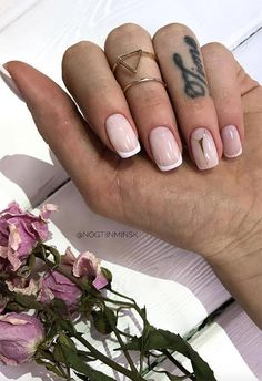 27 Fresh French Nail Designs: How to Do French Manicure at Home - Fresh French Nail Designs: French Manicure Ideas - French Nails, French Manicure Kit, French Acrylic Nails, Manicure Y Pedicure, Manicure At Home, Manicure Ideas, French Nail Designs, Nail Designs Spring, Gel Nail Art