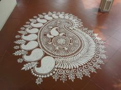 Best Rangoli Designs, patterns Simple & easy for Diwali - Part 8 Rangoli Borders, Rangoli Patterns, Colorful Rangoli Designs, Rangoli Ideas, Rangoli Designs Diwali, Rangoli Designs Images, Diwali Rangoli, Mehndi, Alpona Design