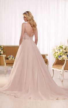 D2175 A-line wedding gown with ruched sweetheart bodice by Essense of Australia