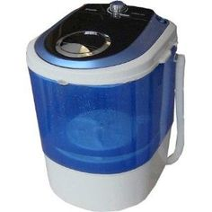 Mini washing machine...just add soap, water, and dirty clothes...road trip anyone? Compact Washing Machine, Washing Machine Reviews, Mini Washing Machine, Washing Machines, Apartment Washer And Dryer, Portable Washer And Dryer, Renters Solutions, Hanging Drying Rack, Drying Racks