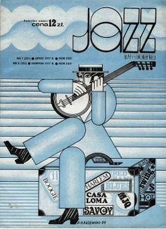 Poolse Jazz Affiche. A. Krazewski 1972
