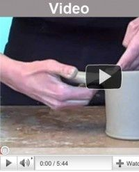 Video on pulling a handle and attaching to a mug