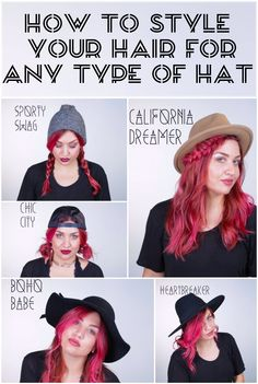 How to style your hair for any type of hat
