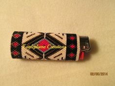 Native American Style Beaded lighter cover by EagleplumeCreations