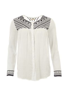Bluet Embroidered Blouse WOWWTOA40032 £150.00  An easy #blouse, crafted from super soft cotton, that will go with everything and makes for a fresh and bohemian alternative to a classic #shirt