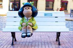 Estátua da Mafalda em San Telmo - Buenos Aires, Argentina - leia: http://estantedeviagens.com.br/encontro-em-buenos-aires/