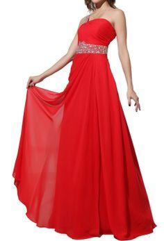 Strapless Chiffon Goddess Long Prom Dress
