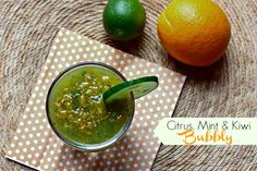 citrus mint and kiwi bubbly via @danielleomar