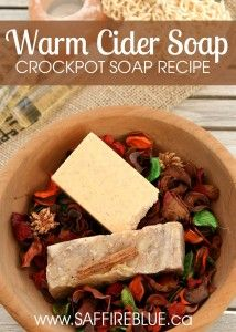 Warm Cider Soap - Crockpot Soap Recipe   @saffireblue