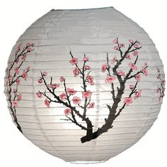 Cherry Blossom Paper Lantern - Perfect Asian-inspired decoration for a wedding!
