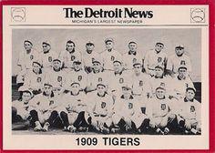 1981 Detroit News Detroit Tigers #95 1909 Tigers Front