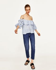 ZARA - WOMAN - BLOUSE WITH PLEATED SLEEVES