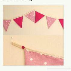 Girlie/wedding bunting