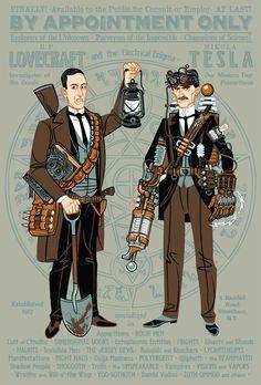 HP Lovecraft and Nikola Tesla as Paranormal Investigators