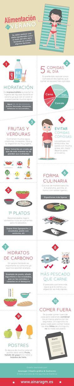 10 consejos para alimentarse bien en verano. #infografía #nutrición #verano