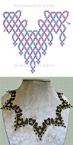 Free pattern for necklace Selena Free pattern for necklace Selena Bead Jewellery, Seed Bead Jewelry, Seed Beads, Wire Jewelry, Jewelry Making Tutorials, Beading Tutorials, Beading Patterns Free, Free Pattern, Loom Patterns