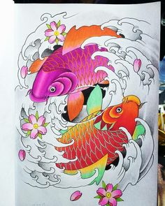 Techniques for chinese koi fish tattoo! It is likely you really know what tattoos will give to you. A number of your best celebrities that you just enjoy watching might have had tattoo. Situations are different once you are the main one getting tattoo}. Japanese Snake Tattoo, Japanese Flower Tattoo, Japanese Tattoo Designs, Koi Dragon Tattoo, Koi Fish Tattoo, Mago Tattoo, Koi Tattoo Sleeve, Koi Tattoo Design, Koi Art