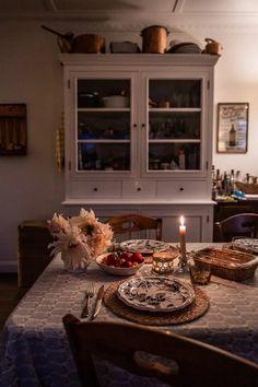 Cottage - Fall Entertaining - Cottonwood & Co Cottage Style, China Cabinet, Storage, Table, Furniture, Beautiful, Home Decor, Chalet Style, Purse Storage