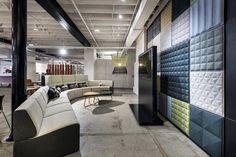 Calibre in colours Dandy and Elite on Zenith's Gather Around Modular Lounge in the their Perth Showroom.
