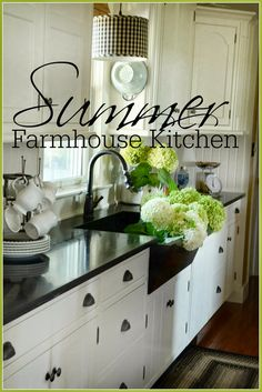 Every season brings it's own influence and impact to my farmhouse kitchen! Summer means big bouquets of flowers, fresh fruit and produce and lots of visitors to my farmhouse kitchen! It's a busy time of canning and freezing and making dishes that go from the garden to the table! Summer is the time of year …