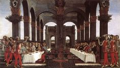 Galateo: renaissance table manners - a new translation. Giovanni della Casa was a diplomat from Florence who wrote up the rules of proper dining and discourse at banquets. From his tone, he sounds like the Sheldon Cooper of renaissance Florence. Painting- The Wedding Banquet by Bottacelli