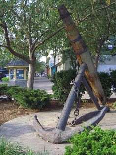 This anchor symbolizes our link to the past, with the original Welland Canal that carried ships through St. Located at the Gateway to Downtown at 2 t. Photo courtesy of Erin Duemo, published in the 2008 Downtown Calendar. St Catharines, Anchor, Past, Anchors, Anchor Bolt