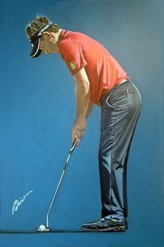 Luke Donald 2012 DPWTC by Mark Robinson. #golf #art #dubai #racetodubai #mydubai #england #lukedonald Note: Visit the Mark Robinson website for more details for available stock, commissions, exhibitions or tournament enquiries - www.robinsongolfart.com