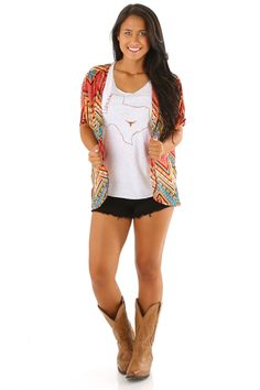 She's All Yours Cardigan: Orange/Multi- Use code THOLLISREP at checkout to save 10% EVERY time you shop at www.shophopes.com! Free shipping in US and Canada. International shipping is available. SHARE THIS CODE WITH YOUR FRIENDS, AND HAPPY SHOPPING:)