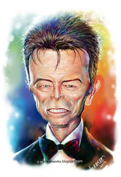 Keanu Reeves caricatures | David-Bowie